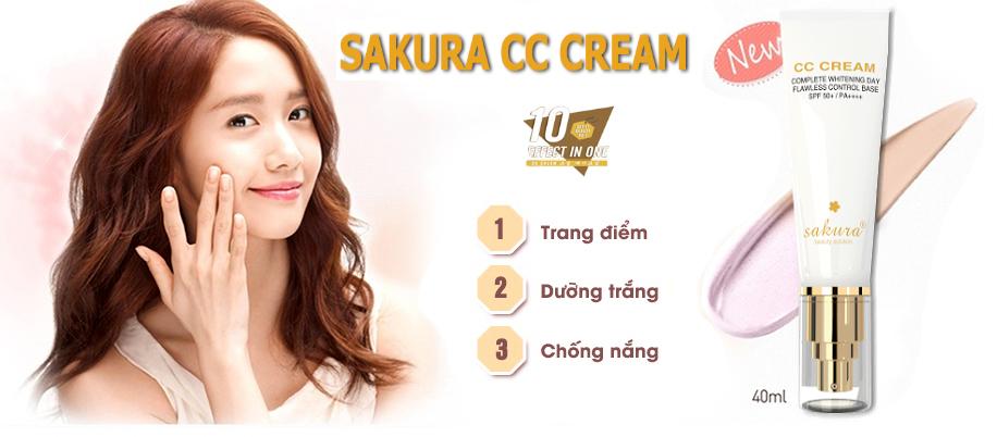 3 phút thay đổi diện mạo với kem trang điểm CC Cream Sakura
