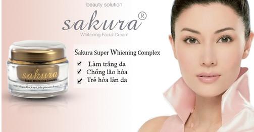 Kem dưỡng trắng da chống lão hóa Sakura