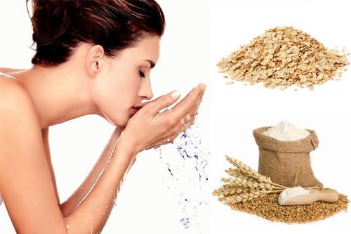 Rửa mặt với bột yến mạch giúp làn da bạn sáng mịn, đều màu.
