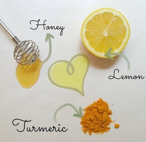 cách làm trắng da mặt bằng nghệ, chanh và mật ong