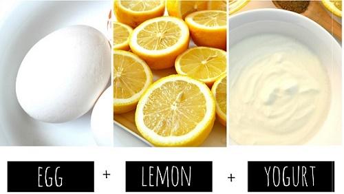 cách làm trắng da mặt bằng sữa chua, mật ong và chanh