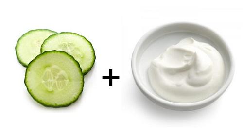 cách làm trắng da bằng sữa chua và dưa leo