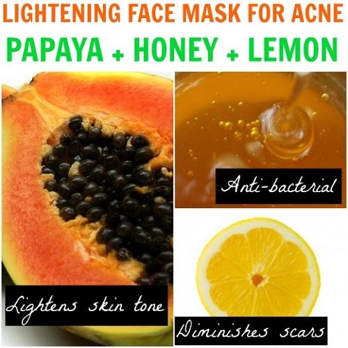 cách làm trắng da mặt tại nhà đơn giản bằng đu đủ, mật ong, chanh