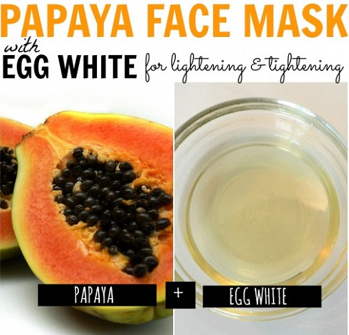 cách làm trắng da mặt đơn giản từ đu đủ và lòng trắng trứng