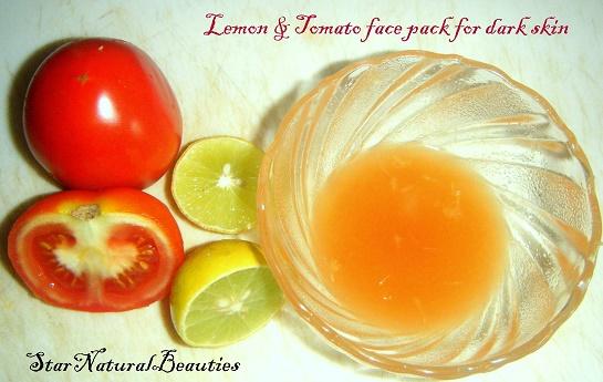 cách làm trắng da mặt từ cà chua và chanh