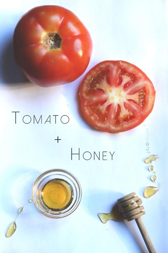 cách làm trắng da mặt từ cà chua và mật ong