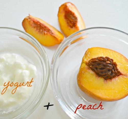 tiết lộ cách làm trắng da mặt đơn giản hiệu quả từ Đào và Sữa chua