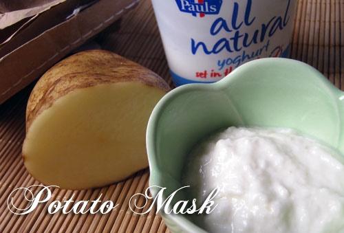 mách nhỏ cách làm trắng da mặt từ nước ép khoai tây và sữa chua