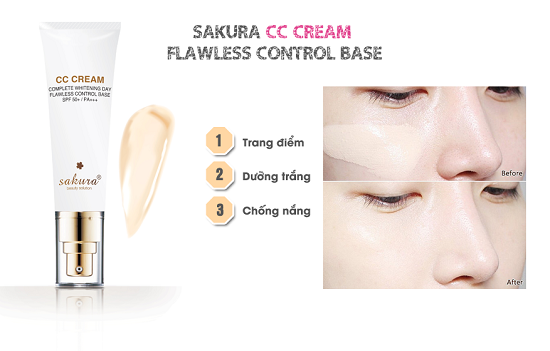 Để có làn da đẹp như khi sử dụng kem trang điểm Sakura CC Cream
