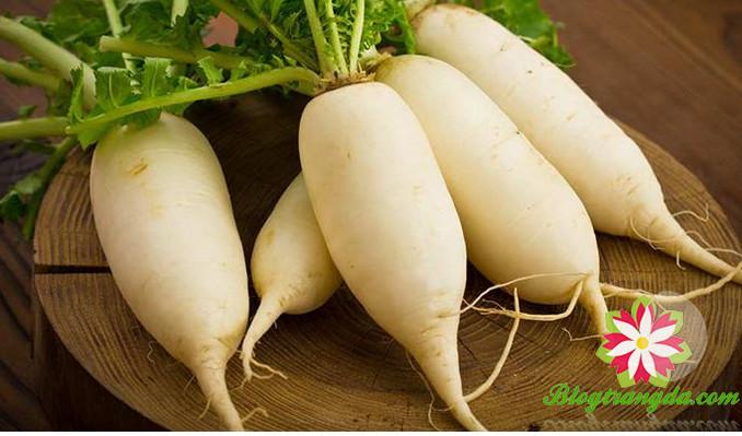 làm trắng da từ củ cải trắng