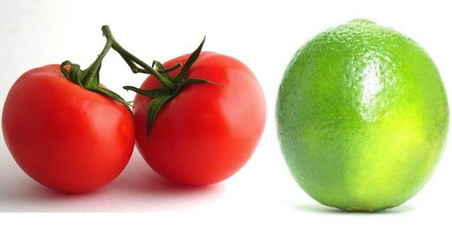 Se khít lỗ chân lông và đánh bay mụn trên da mặt với cà chua - chanh