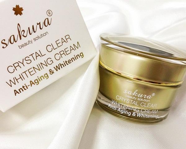 Kem dưỡng trắng da mặt chống lão hóa Sakura Anti-Aging Whitening Cream