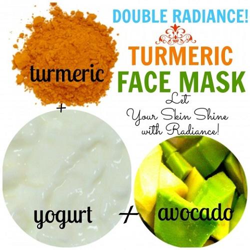 cách làm trắng da mặt bằng nghệ, trái bơ và sữa chua
