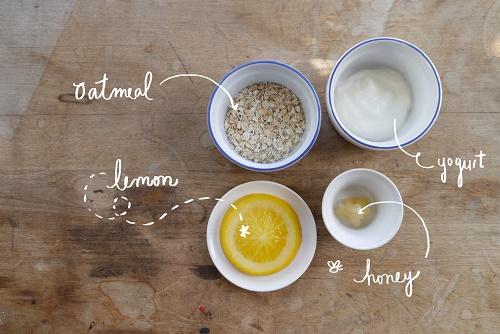 Dưỡng da trắng mịn với cách làm trắng da từ yến mạch, sữa chua, chanh, mật ong