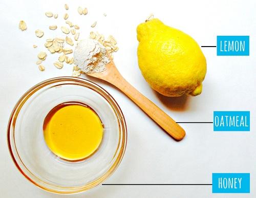 cách trị mụn trứng cá cực đơn giản từ mật ong, chanh và yến mạch