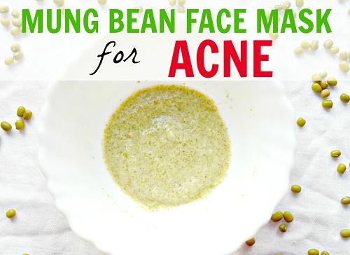 sạch mụn dưỡng da với cách trị mụn trứng cá bằng đậu xanh và sữa chua