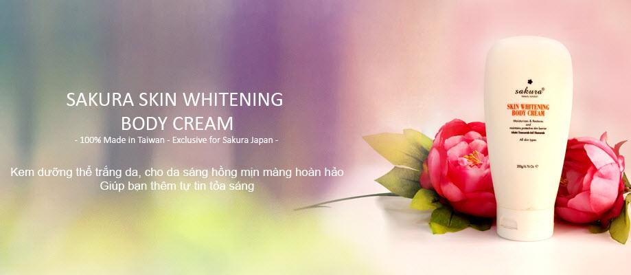 kem dưỡng trắng da toàn thân sakura
